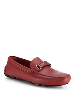 Prada - Saffiano Leather Driving Moccasins