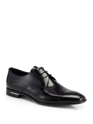 Spazzolato Leather Derby Shoes