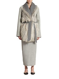 The Row - Noraf Fox-Fur Paneled Jacket