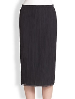The Row - Ahrisa Crinkle Silk Skirt