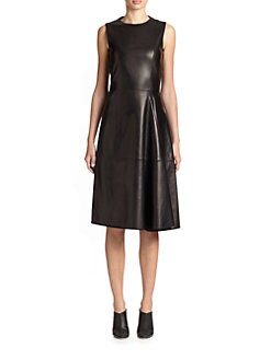 The Row - Ottamae Leather Dress