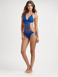Ralph Lauren Blue Label - One-Piece Crochet Swimsuit