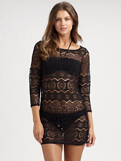 Ralph Lauren Blue Label - Lace/Crochet Beach Tunic