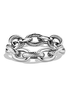 David Yurman - Sterling Silver XX Large Oval Link Chain Bracelet