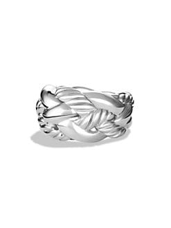 David Yurman - Sterling Silver Woven Cable Ring