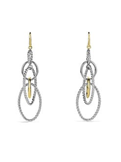 David Yurman - 18K Yellow Gold & Sterling Silver Drop Earrings
