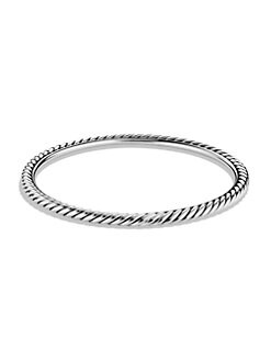 David Yurman - Sterling Silver Cable Bracelet