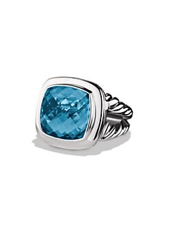 David Yurman - Blue Topaz & Sterling Silver Ring