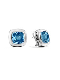 David Yurman - Blue Topaz & Sterling Silver Earrings