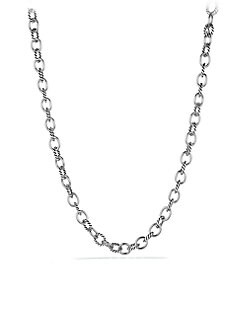 David Yurman - Sterling Silver Medium Link Necklace