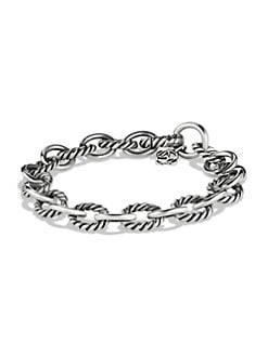 David Yurman - Sterling Silver Medium Link Bracelet