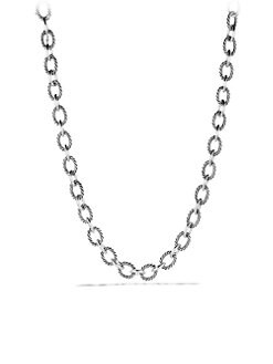 David Yurman - Sterling Silver Oval Link Chain Necklace