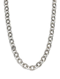 David Yurman - Sterling Silver Large, Long Link Necklace