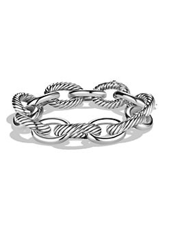 David Yurman - Sterling Silver Bold Link Bracelet
