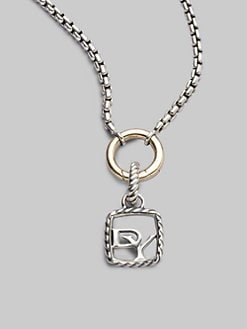 David Yurman - Sterling Silver Logo Charm