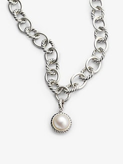 David Yurman - White Pearl & Sterling Silver Enhancer