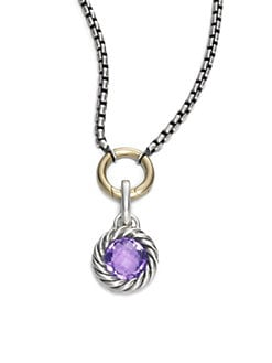 David Yurman - Amethyst & Sterling Silver Enhancer