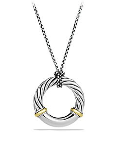 David Yurman - Sterling Silver & 18K Yellow Gold Necklace