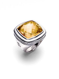 David Yurman - Citrine & Sterling Silver Ring