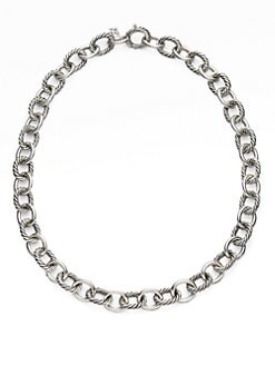 David Yurman - Sterling Silver Large Link Necklace
