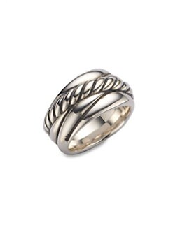 David Yurman - Sterling Silver Crossover Ring
