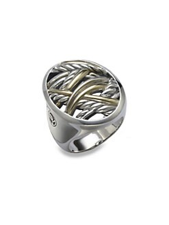 David Yurman - Sterling Silver & 18K Yellow Gold RIng
