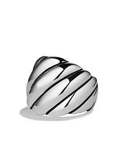 David Yurman - Sterling Silver Wide Sculpted Ring