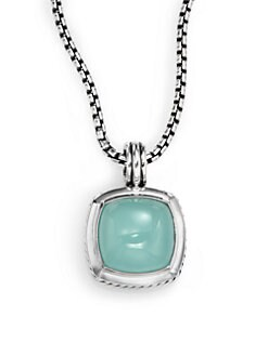 David Yurman - Aqua Chalcedony & Sterling Silver Enhancer