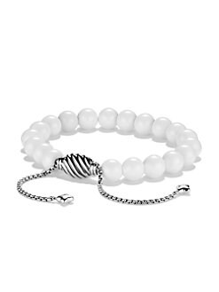 David Yurman - White Agate & Sterling Silver Bracelet