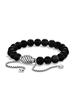 David Yurman - Black Onyx & Sterling Silver Bracelet
