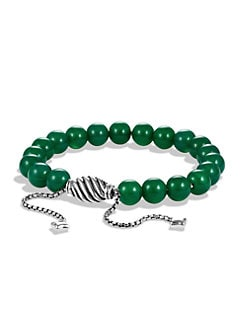 David Yurman - Green Onyx & Sterling Silver Bracelet