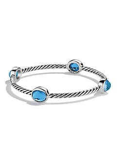 David Yurman - London Blue Topaz & Sterling Silver Bangle Bracelet