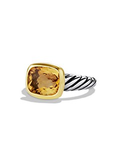 David Yurman - Smoky Citrine, Sterling Silver & 18K Yellow Gold Ring