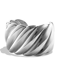 David Yurman - Sterling Silver Textured Bracelet