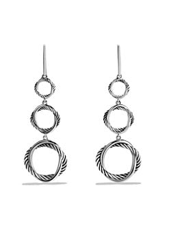 David Yurman - Sterling Silver Round Link Drop Earrings