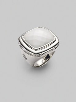 David Yurman - White Agate & Sterling Silver Ring