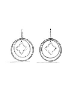 David Yurman - Sterling Silver Quatrefoil Mobile Earrings