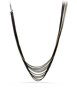David Yurman - 18K Gold & Blackened Sterling Silver Multi-Chain Necklace