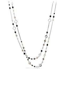 David Yurman - Onyx & Sterling Silver Necklace