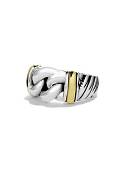 David Yurman - Sterling Silver & 18K Gold Band Ring