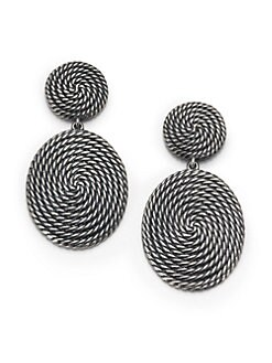 David Yurman - Sterling Silver Coiled Earrings
