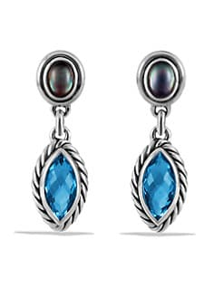 David Yurman - Semi-Precious Multi-Stone & Sterling Silver Drop Earrings