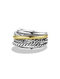David Yurman - Sterling Silver & 14K Gold Ring