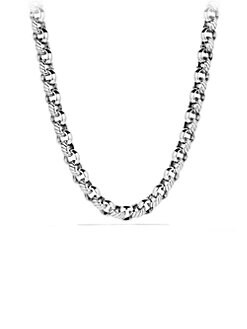 David Yurman - Sterling Silver Round Chain Link Necklace