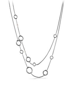 David Yurman - Pearl & Sterling Silver Link Necklace