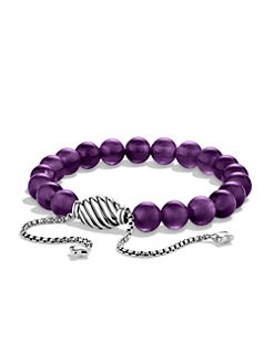 David Yurman - Amethyst and Sterling Silver Bracelet