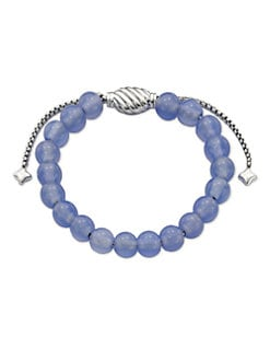 David Yurman - Blue Chalcedony and Sterling Silver Bracelet