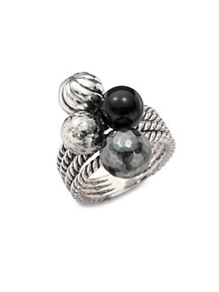 David Yurman - Semi-Precious Multi-Stone Cluster Ring