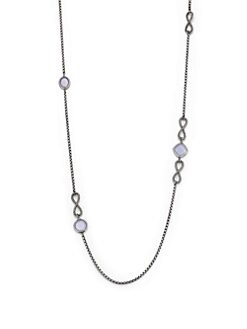 David Yurman - Blue Chalcedony & Sterling Silver Station Necklace