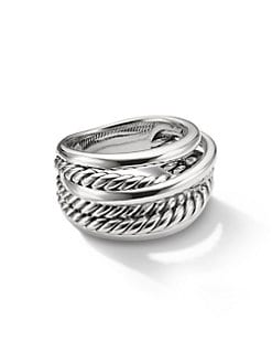 David Yurman - Sterling Silver Cable Wrap Ring